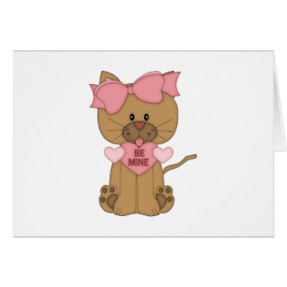 Valentines Day Cat Be Mine Card