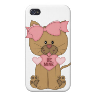 Valentines Day Cat Be Mine iPhone 4/4S Cases