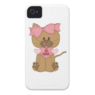 Valentines Day Cat Be Mine iPhone 4 Covers
