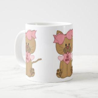 Valentines Day Cat Be Mine Large Coffee Mug