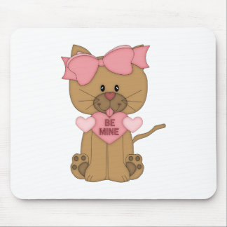 Valentines Day Cat Be Mine Mouse Pad