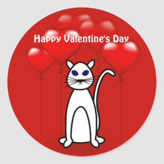 Valentine's Day Cat Large Custom Sticker