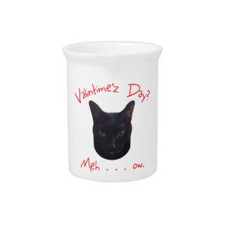 Valentine's Day Cat Meh Drink Pitchers