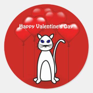 Valentine's Day Cat Small Sticker