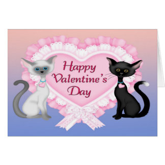 Valentine's Day Cats Greeting Card