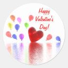 Valentines Day Celebration Classic Round Sticker