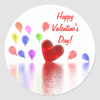 Valentines Day Celebration Classic Round Sticker