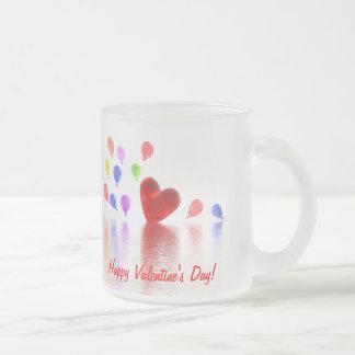 Valentines Day Celebration Frosted Glass Coffee Mug