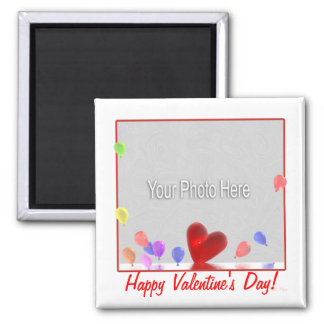 Valentines Day Celebration (photo frame) 2 Inch Square Magnet