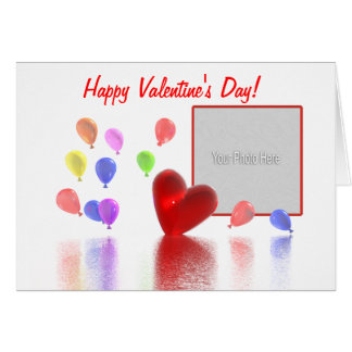 Valentines Day Celebration (photo frame) Card
