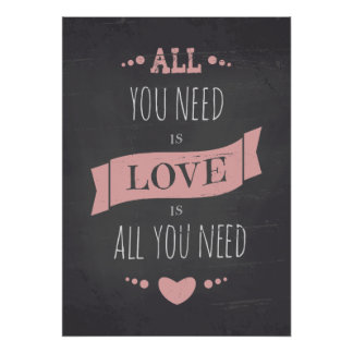 Valentine's Day Chalkboard Style Poster