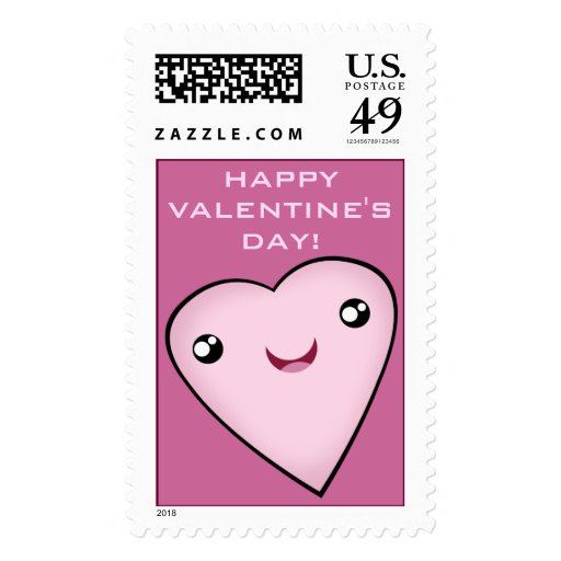 Valentine's Day Cherry Cupcake Postage Stamp