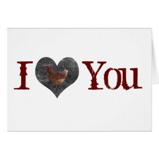 Valentine's Day Chicken Card