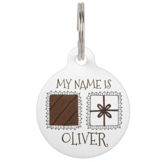 Valentine's Day Chocolate Candy Foodie Pet Dog Tag