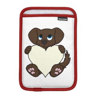 Valentine's Day Chocolate Dog with Cream Heart Sleeve For iPad Mini