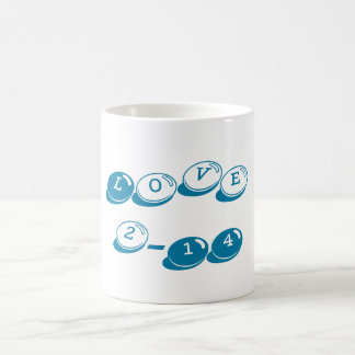 Valentine's Day Classic Love Mug Blue Candy Bits Basic White Mug