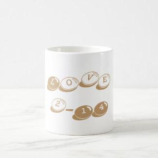 Valentine's Day Classic Love Mug Camel Candy Bits Basic White Mug