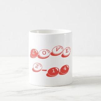 Valentine's Day Classic Love Mug Carmine Pink