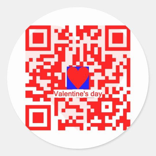 Valentine's day classic round sticker
