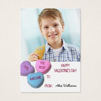 Valentine's Day Classroom Boy Custom Photo Business Card
