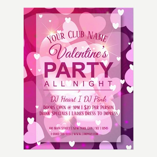 Valentines Day Club Party Flyer