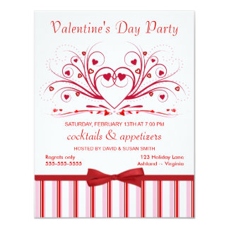 Valentine's Day Cocktail Party Invitations