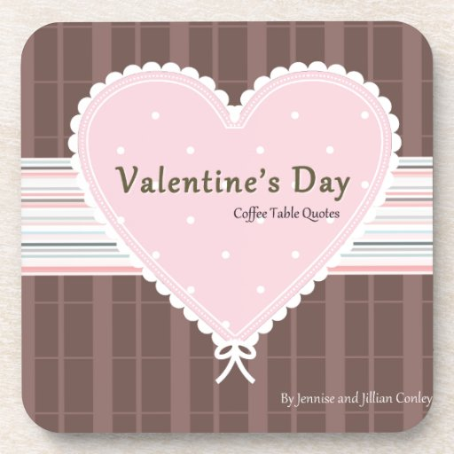 Valentines day Coffee Table Quotes Book Cover Coasters ...