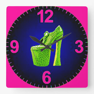 VALENTINES DAY COLORFUL HI HEELS CLOCK GIFT