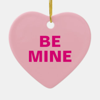 Valentine's Day Conversation Heart Ceramic Ornament