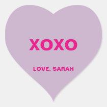 Valentine's Day Conversation Heart Heart Sticker