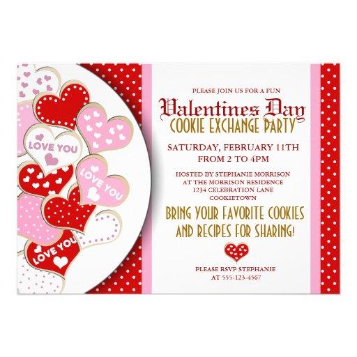 Valentines Day Cookie Exchange Party Invitation 5 Quot X 7