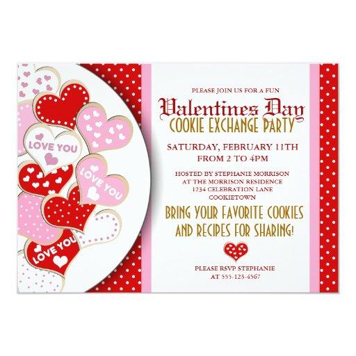 Valentines Day Cookie Exchange Party Invitation