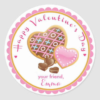 Valentine's Day Cookie Stickers Goodie Bag Sticker
