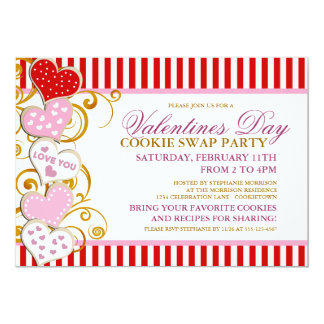 Valentines Day Cookie Swap Party Invitation
