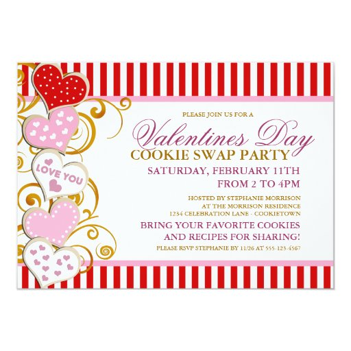 Cookie Swap Invitations for luxury invitations example