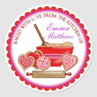 Valentines Day Cookies Stickers