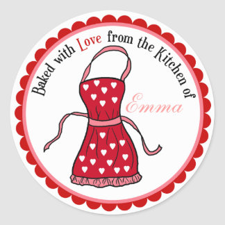 Valentines Day Cooking Apron Stickers