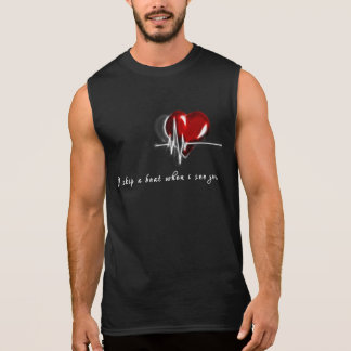 Valentine's Day Cool Men T-shirt HeartBeat
