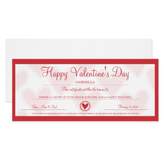 Valentine's Day Coupon Card