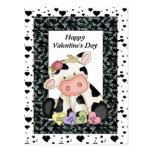 Valentine's Day Cow postcard