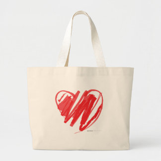 Valentines Day Crayon Heart - mom children love Tote Bags
