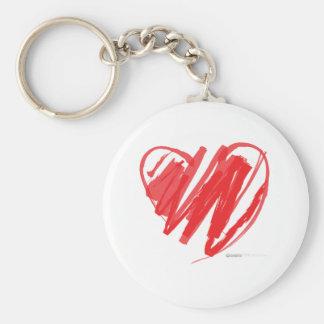 Valentines Day Crayon Heart - mom children love Key Chain