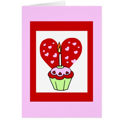 Valentine's Day Cupcake Card