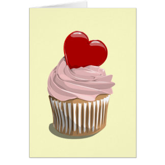 Valentine's day cupcake greeting card