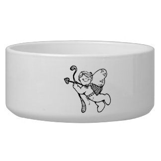 Valentine's Day Cupid Dog Food Bowls