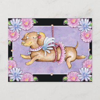 Valentine's Day Cupid Puppy Cute Holiday Postcard
