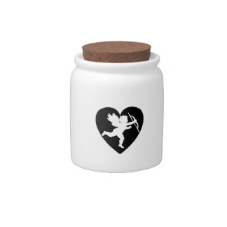Valentine's Day Cupid with Heart Candy Dish