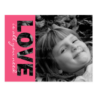 Valentines Day Custom Photo Postcard | Love is...