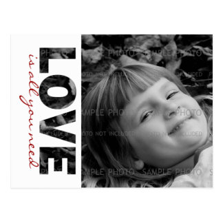 Valentines Day Custom Photo Postcard | Love is...