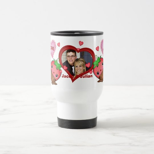 Valentine's Day Custom Photo & Text Travel Mug